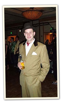 Forties double breasted tan vintage suit